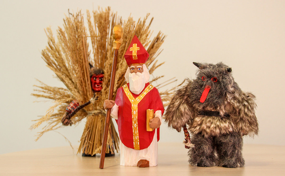 Buttnmandl und Nikolaus im Miniatur-Format