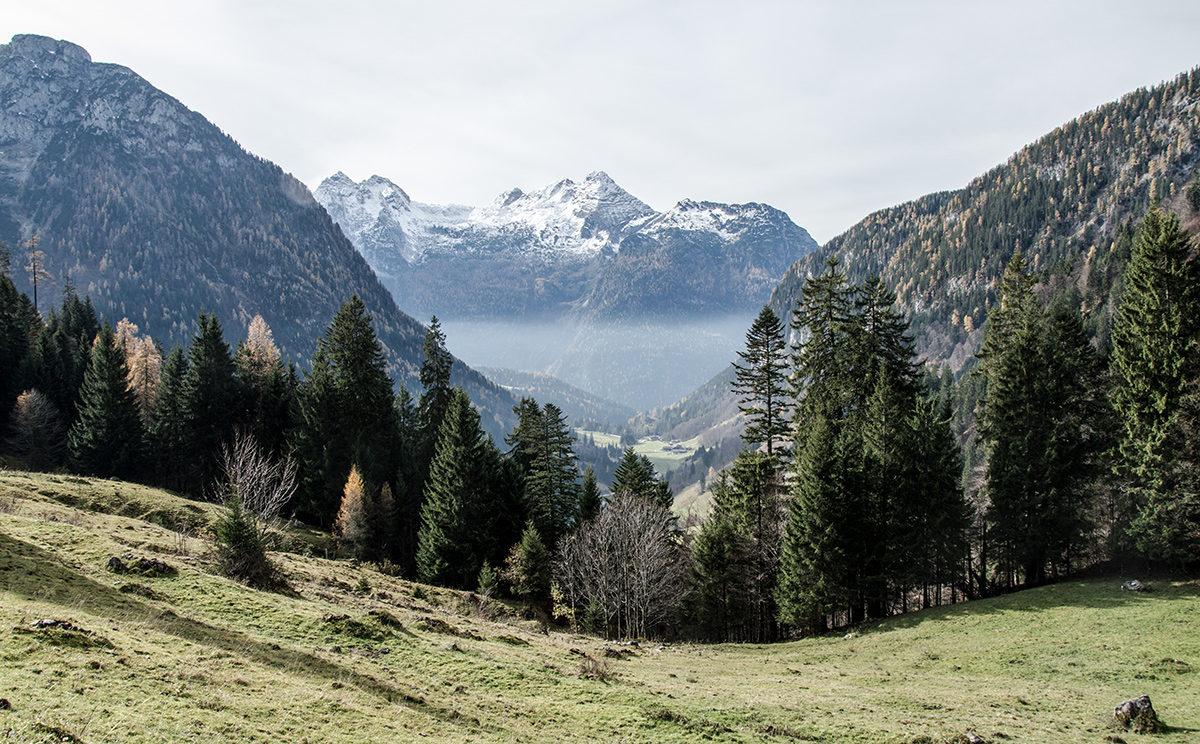 Nebel über dem Salzburger Saalachtal