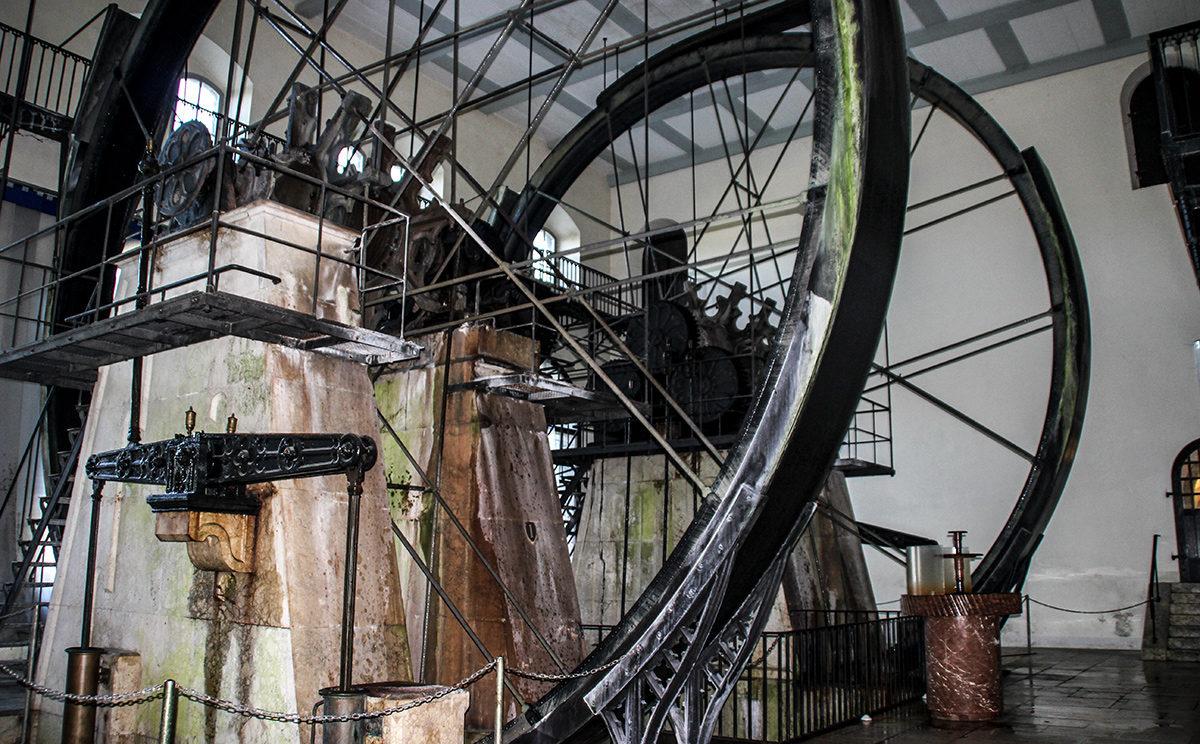 Die Wasserräder in der Alten Saline Bad Reichenhall drehen sich noch immer