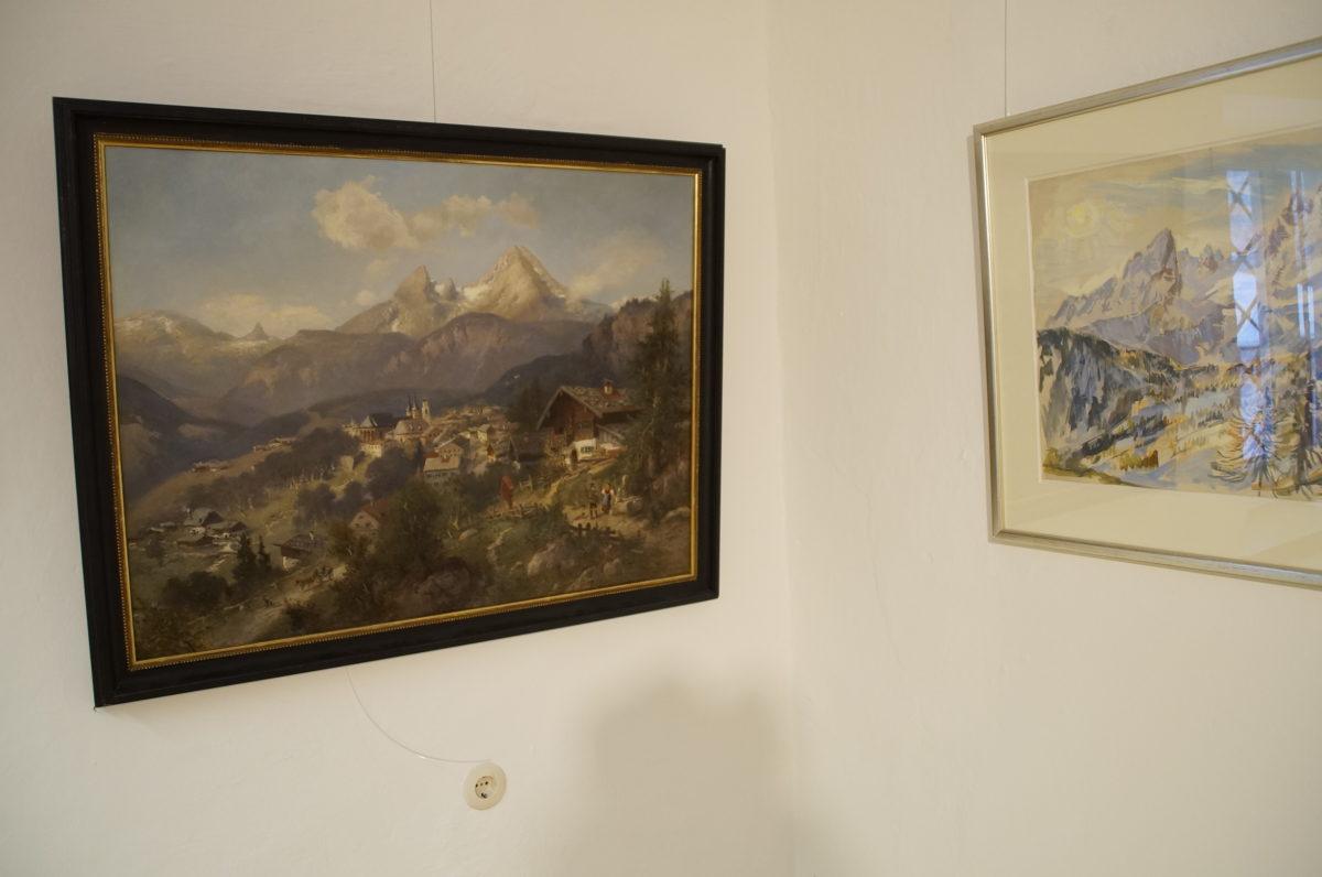 Mehr als 70 Jahre liegen zwischen den Gemälden von Heinrich Hiller (1870) und Friedrich Ludwig (1945)