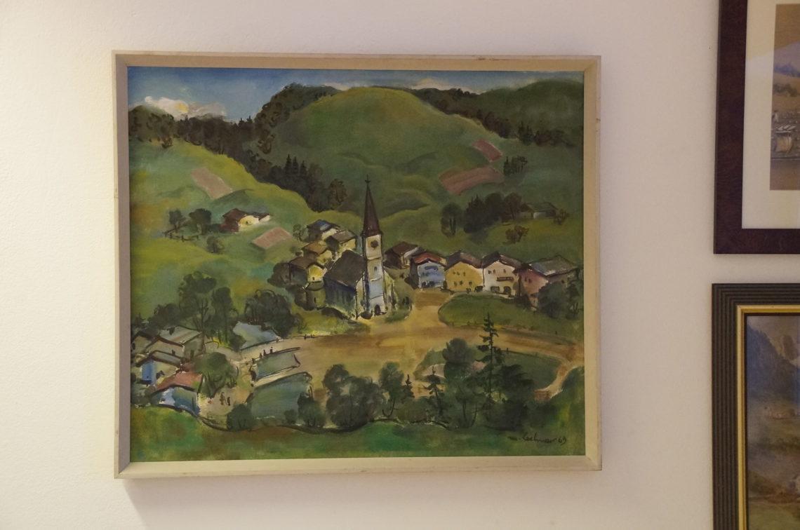 Farbenfroh wurde Marktschellenberg von Michael Lochner festgehalten. Übrigens einer von insgesamt fünf einheimischen Künstlern, die ausgestellt sind.