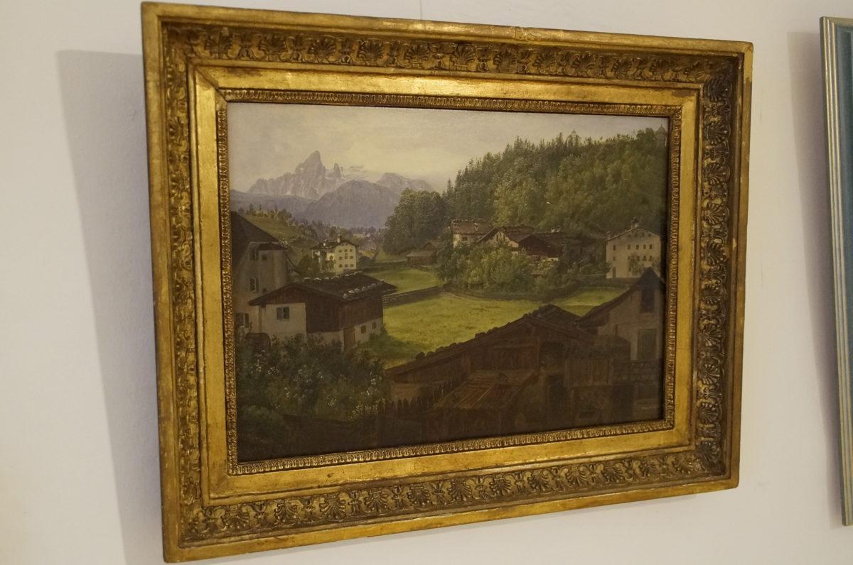 Für uns Touristiker undenkbar: Anton Schiffer malte den Hauptgipfel des Watzmann in Wolken gehüllt.
