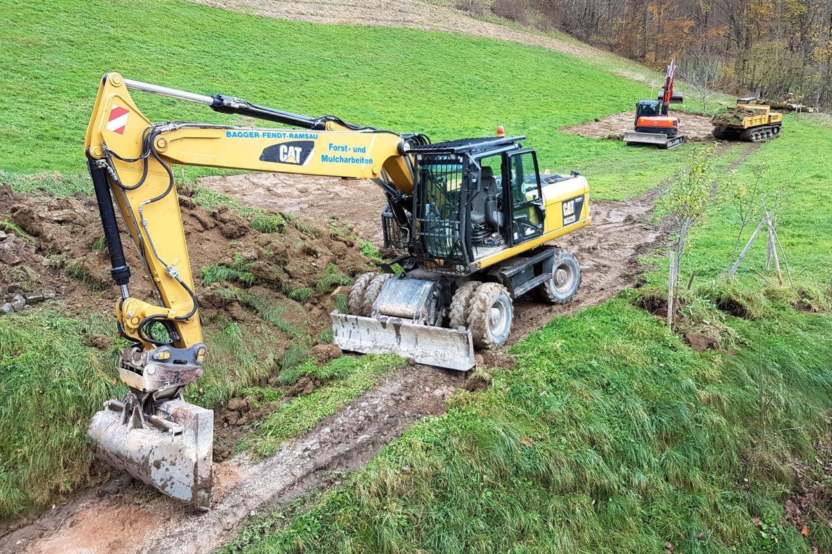 Die bestehende Grasnarbe wird abgetragen und mit kiesigem Substrat eine geeignete Aussaatfläche ge-schaffen werden.
