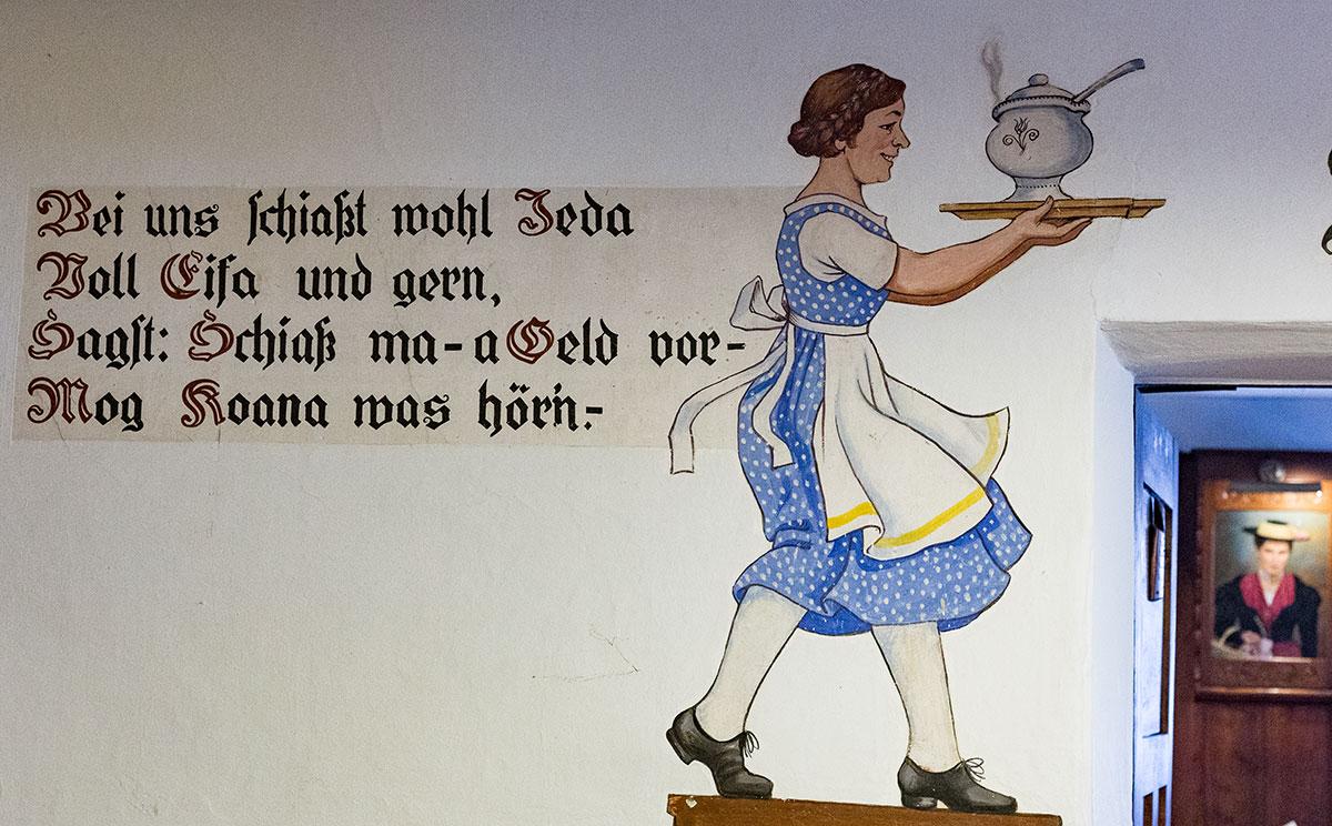 Wandmalerei im Auzinger © Haidn Petra