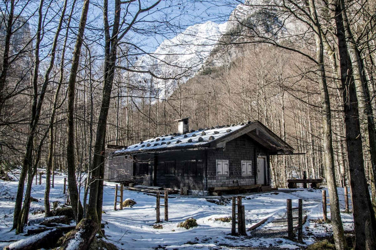 Hütte am Königssee Ufer