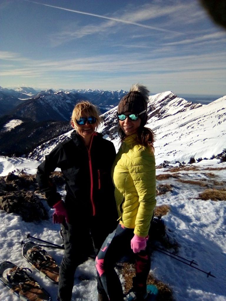 Meine Freundin und ich am Zenokopf © Ann-Kathrin Helbig