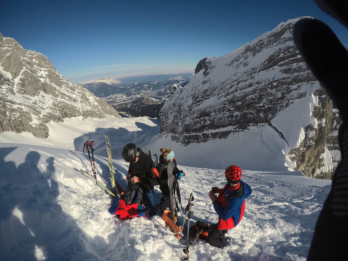 In der Watzmann Skischarte © BRK