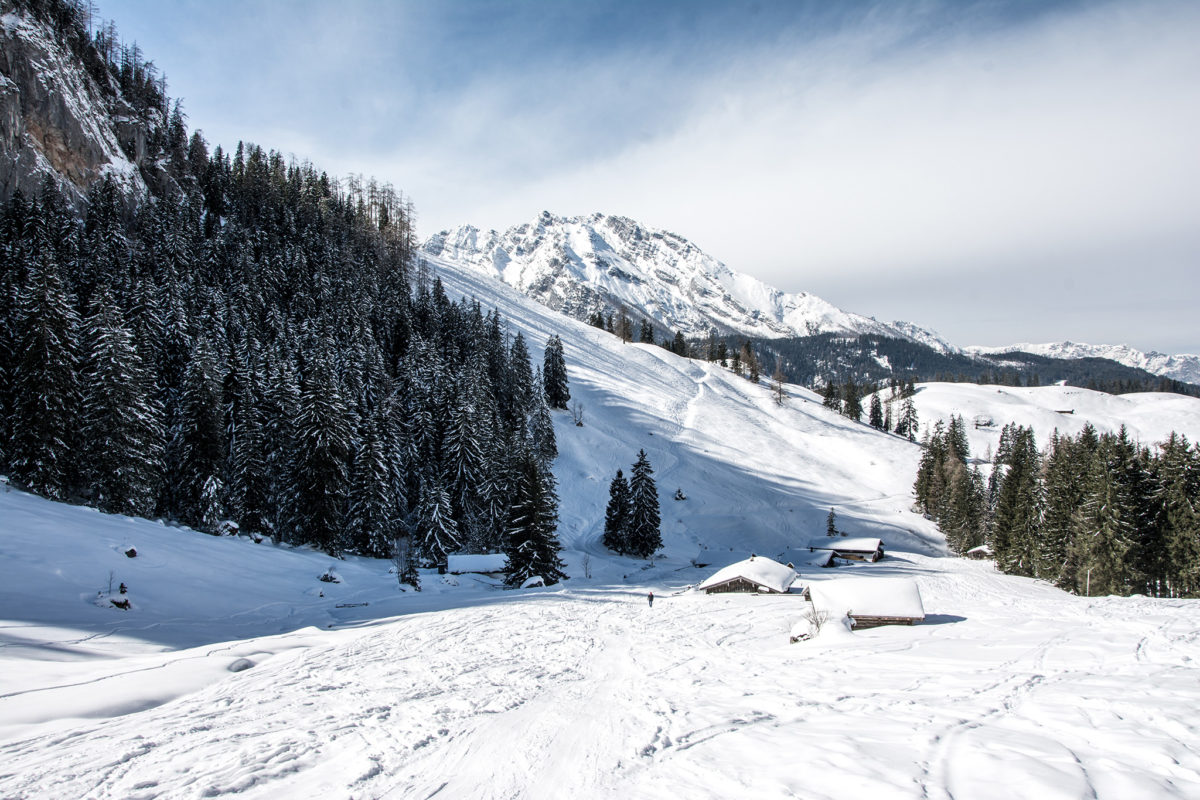 Die Königsbachalm im Winter
