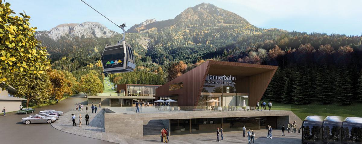 So sieht die Talstation der Jennerbahn ab Sommer aus.