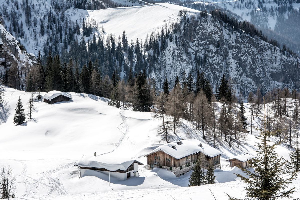 Tiefster Winter am Schneibsteinhaus