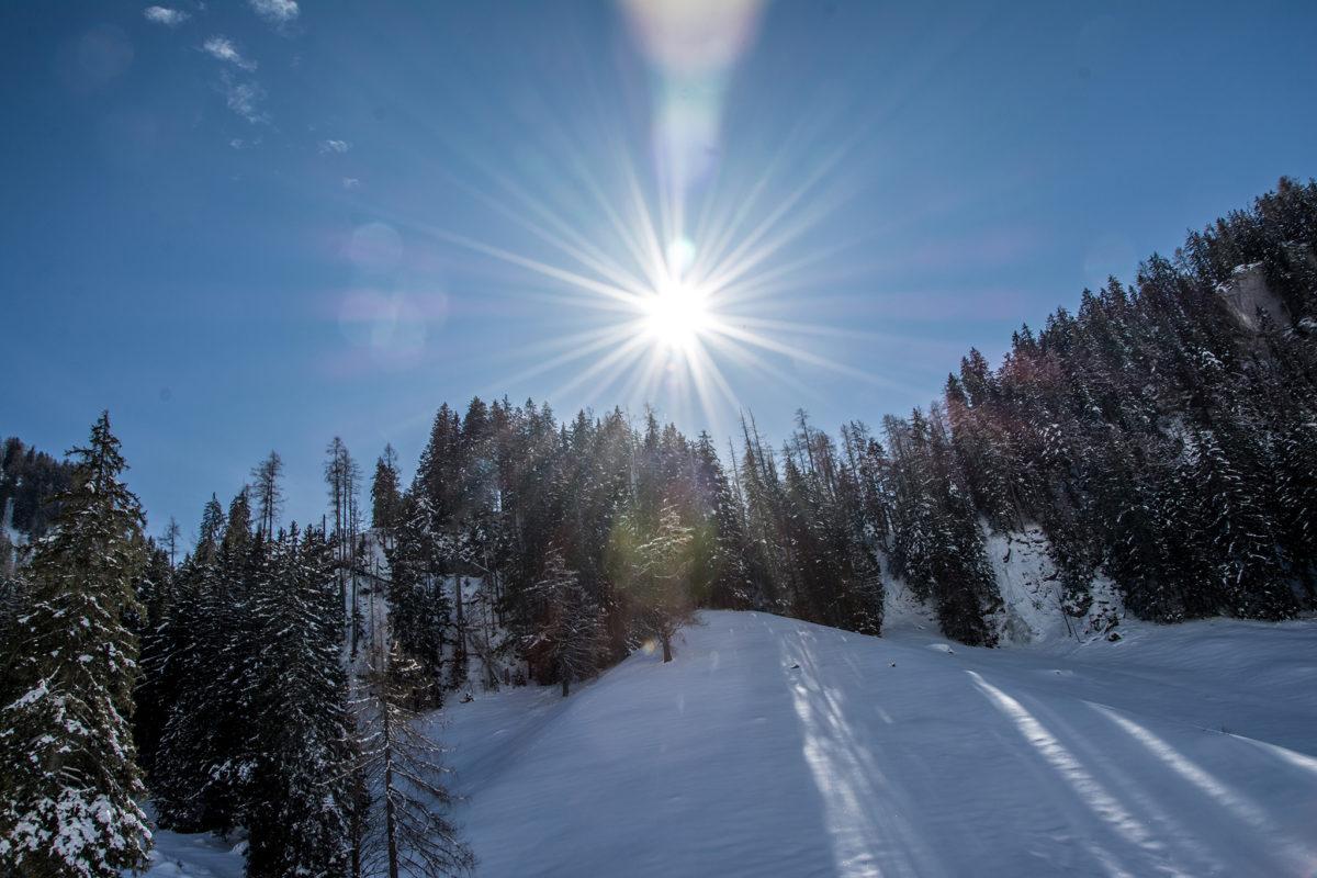 Die Sonne sorgt für angenehme Temperaturen