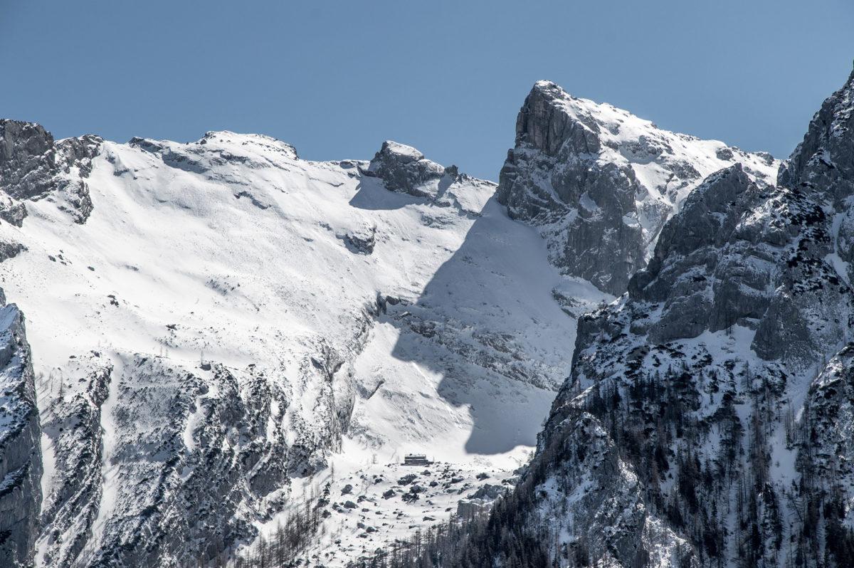 Blick zur Blaueishütte und Schärtenspitze