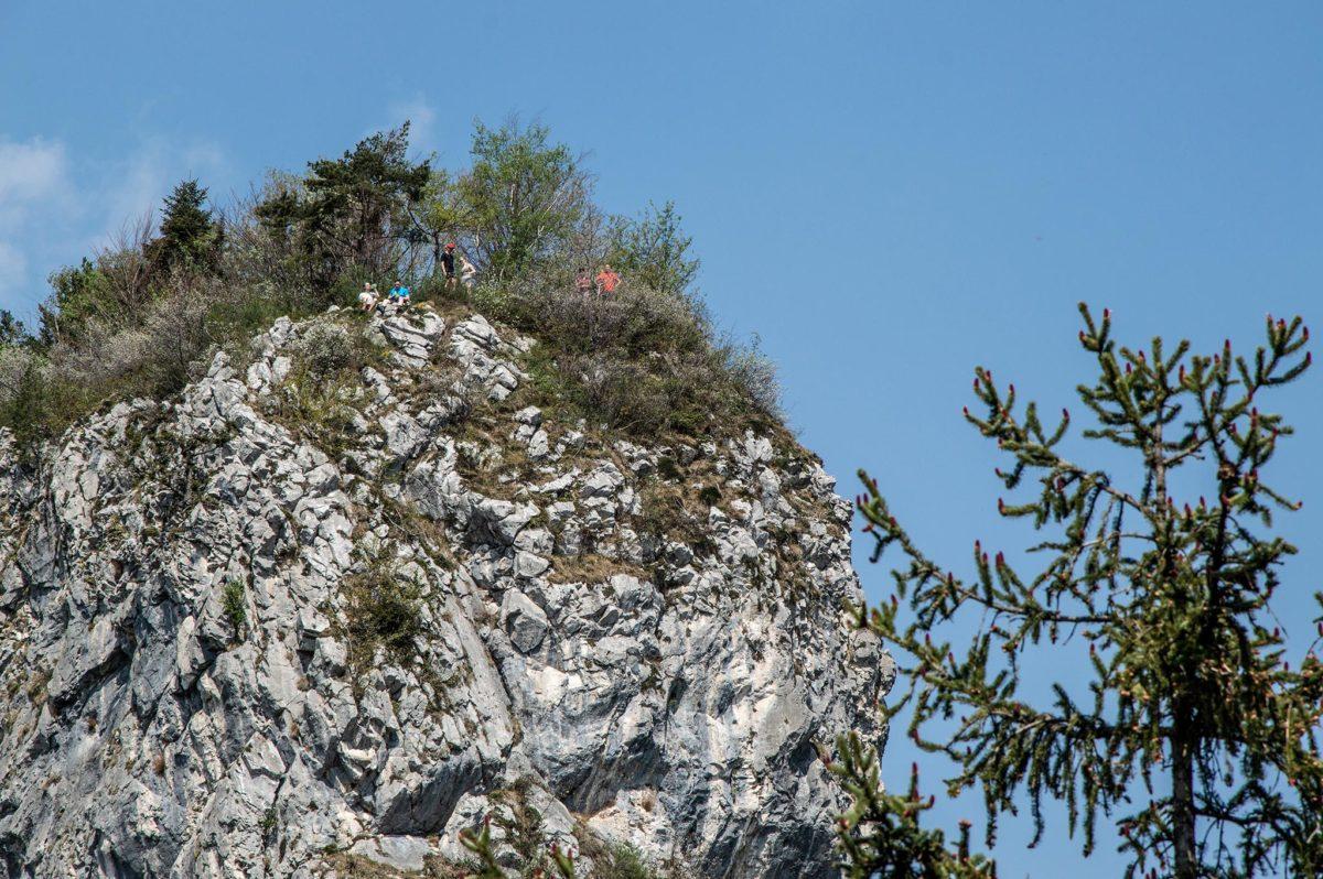 Wanderer und KLetterer auf dem Großen Barmstein