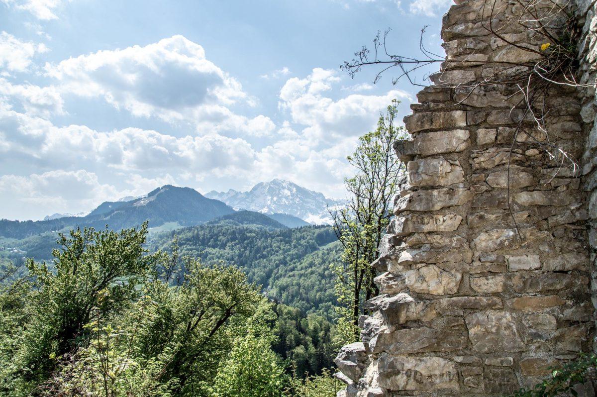 Blick von der Ruine Türndl zum Hohen Göll