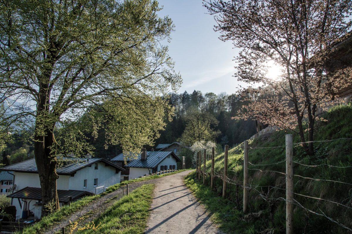 Der Berchtesgadener Soleleitungsweg am Weinfeld