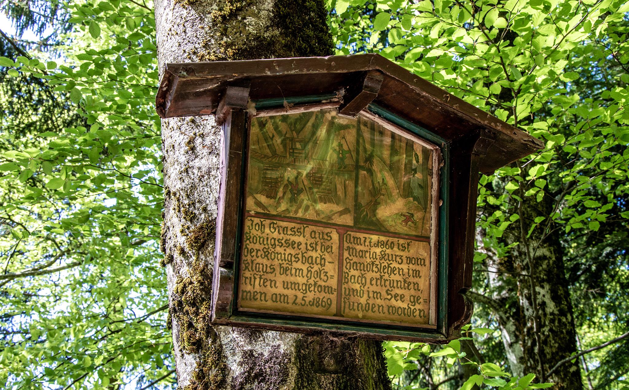 Marterl am Hochbahnweg zum Gedenken an ein Opfer der Holztrift