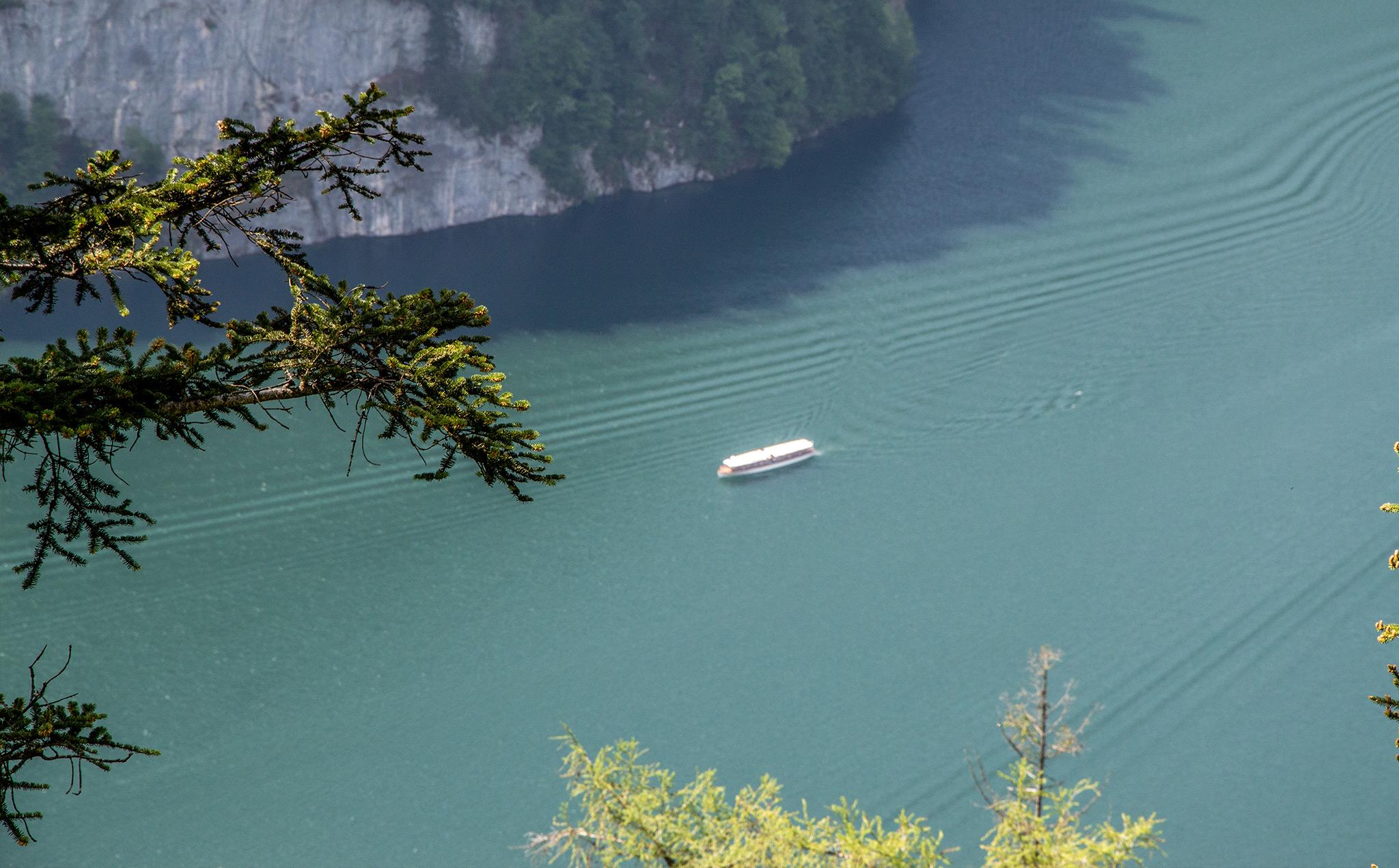 Ein Elektroboot der Köigsseeflotte