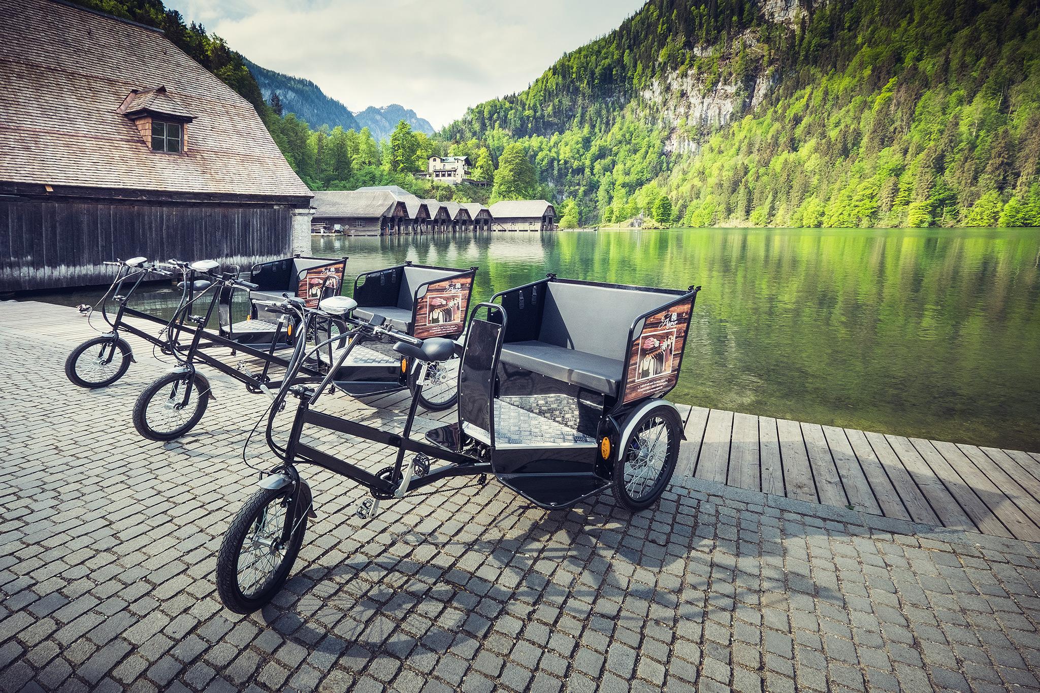 Vorerst stehen 3 Radltaxi am Königssee zur Verfügung