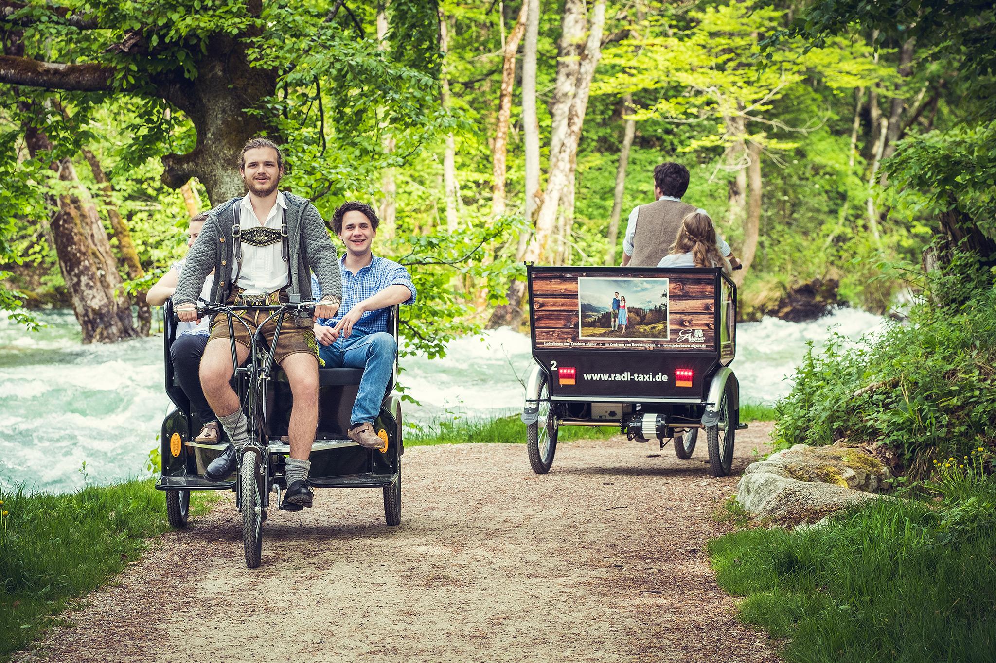 Radltaxi auf dem Königsseer Fußweg an der Königsseer Ache