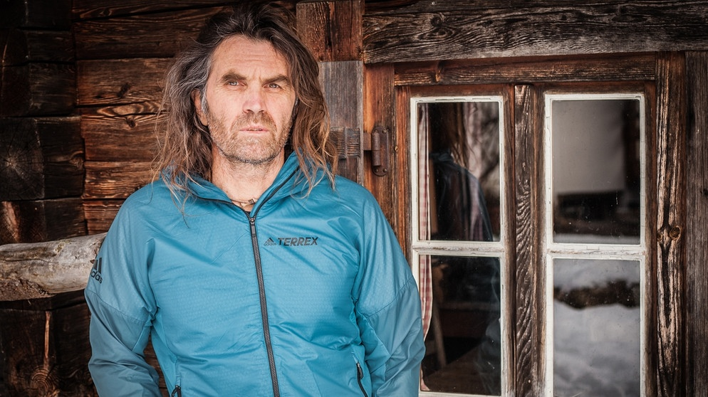 Thomas Huber (51) - Bergsteiger, Kletterer und Abenteurer lebt mit seiner Familie bei Berchtesgaden © BR/Stefan Wiebel