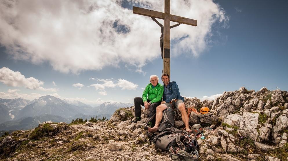 Thomas Huber und sein Vater sind im Frühjahr 2017 für Lebenslinien noch einmal ihre erste gemeinsame schwierige Route gestiegen, die Südwand am Untersberg © BR/Malte Roeper