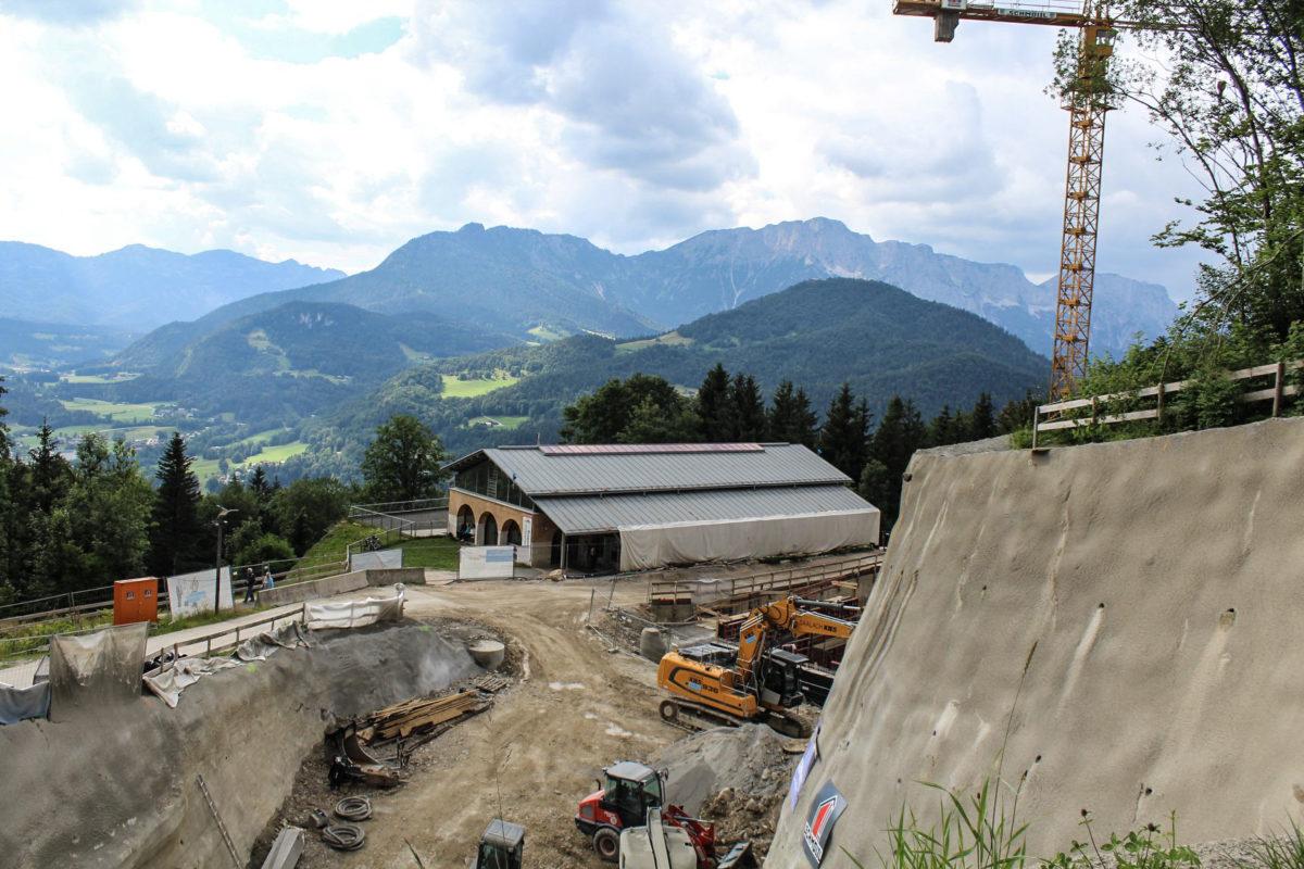 Bauarbeiten an der Dokumentation Obersalzberg