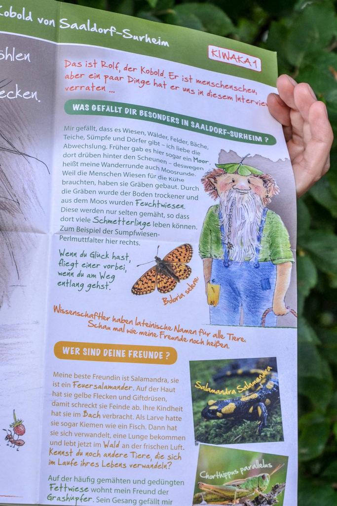 Ausschnitt der KIWAKA mit dem Kobold Rolf © Biosphärenregion BGL