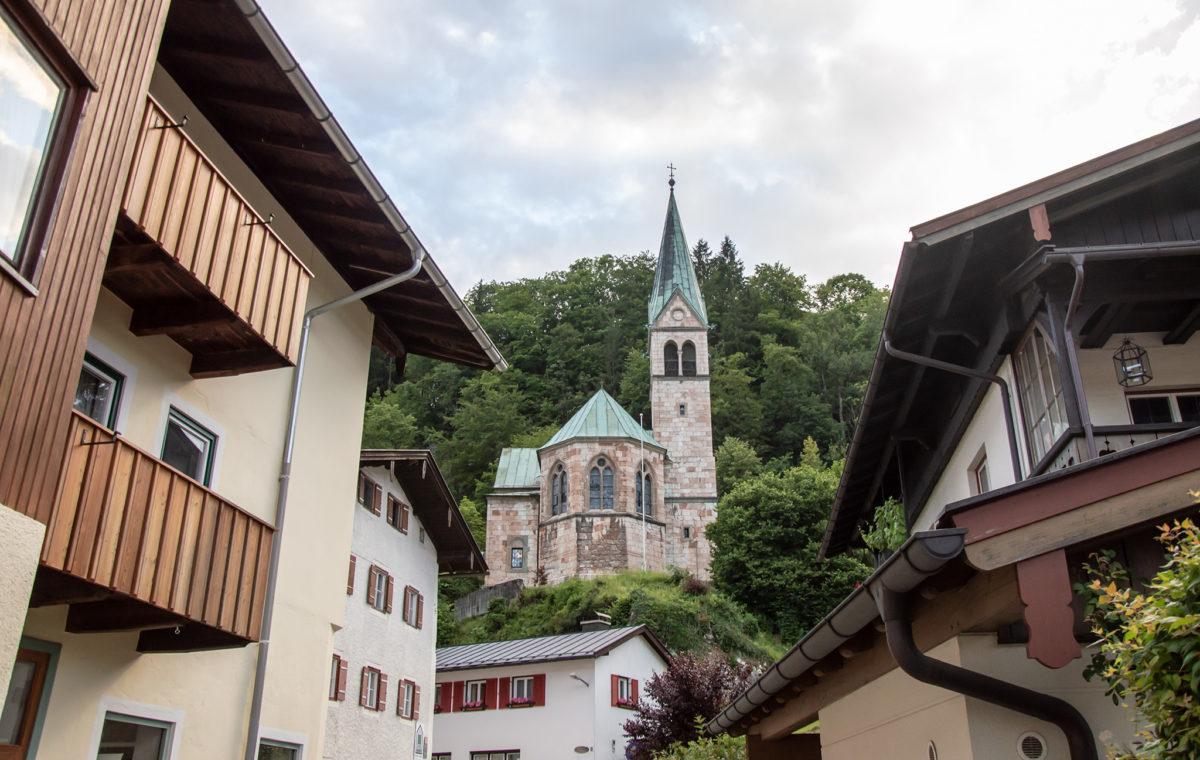 Blick zur evangelischen Kirche