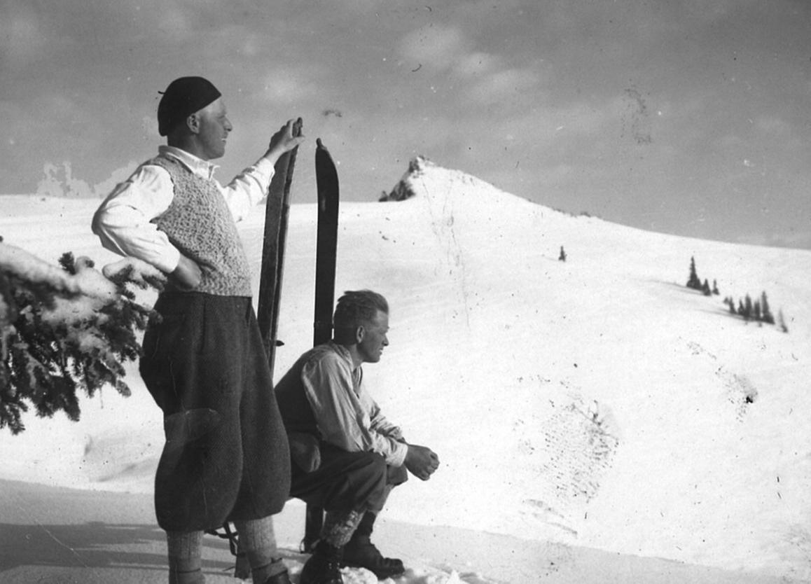 Skifahren annodazumal am Predigtstuhl