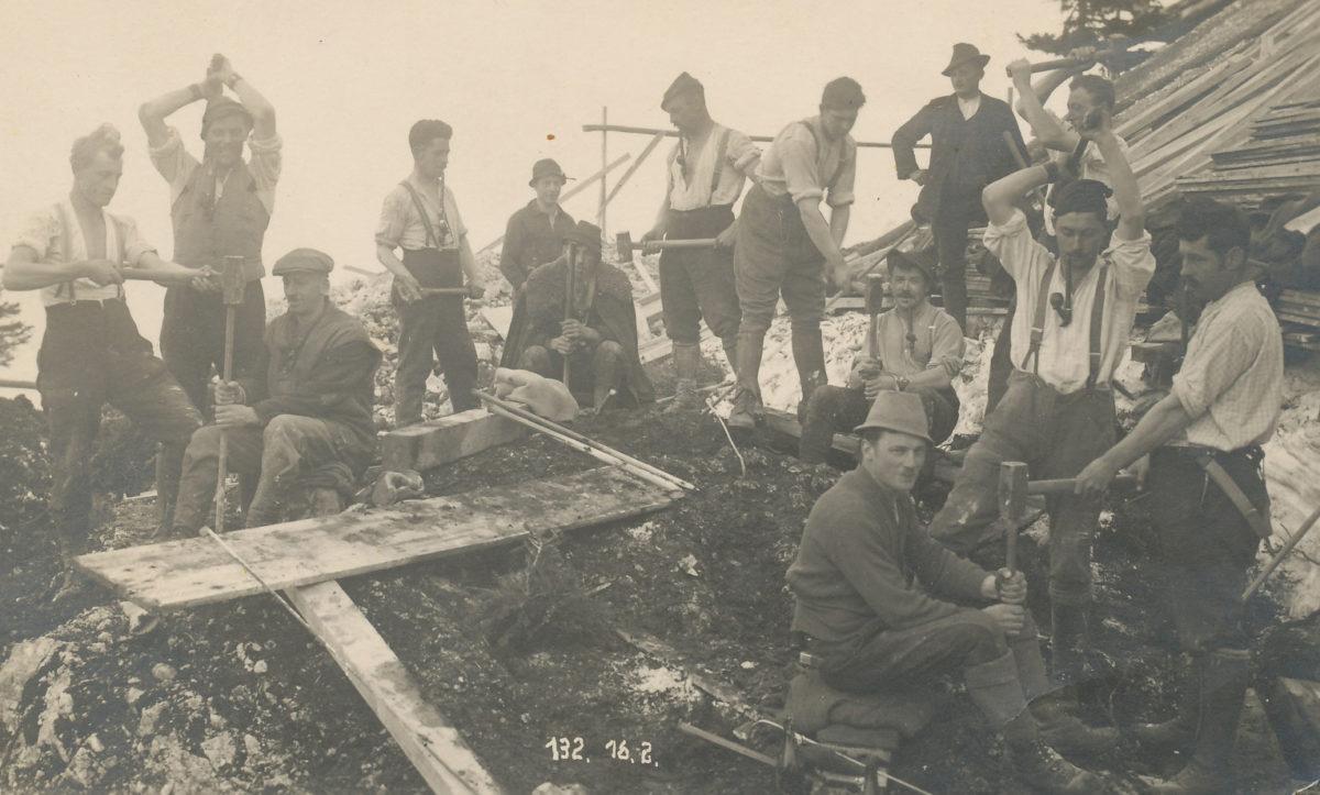 So baut man Legenden: Seilbahnbau vor 90 Jahren