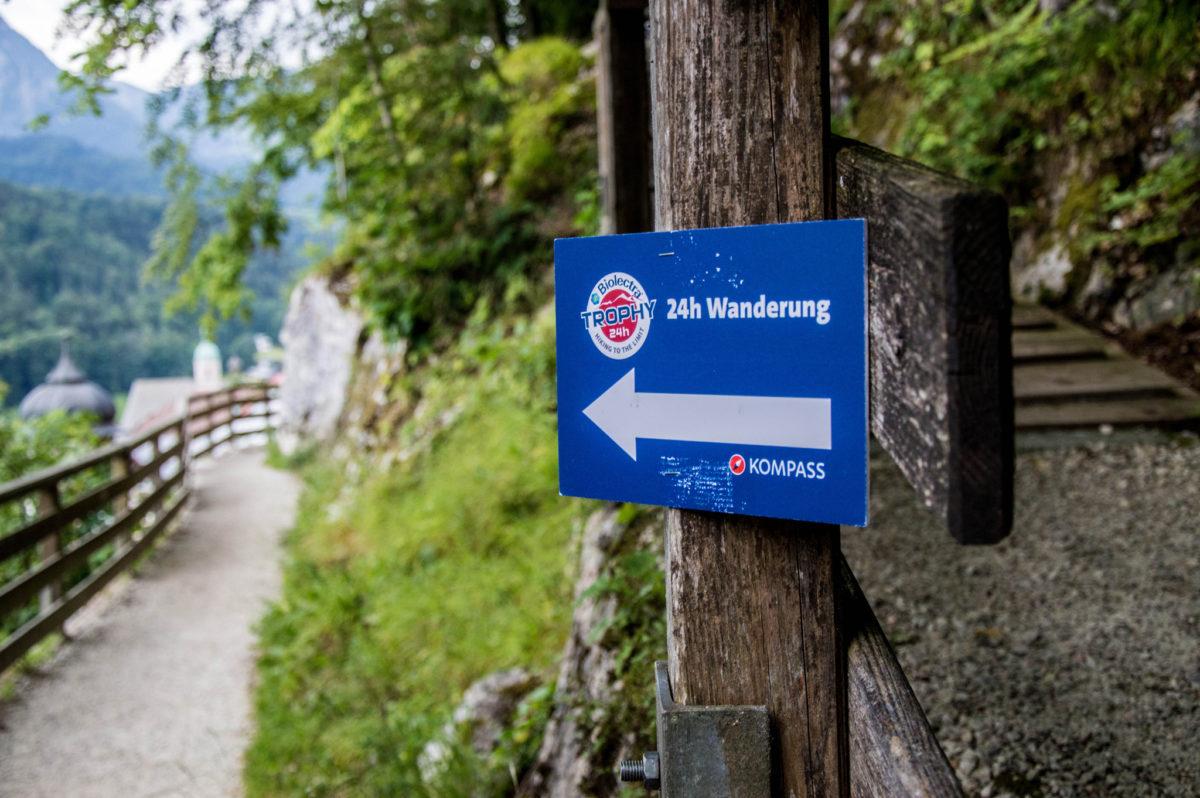 Beschilderung für das Berchtesgadener Land Wander-Festival