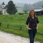 """""""Lena Lorenz""""-Darstellerin Judith Hoersch zeigte sich trotz des Wetters gut gelaunt"""