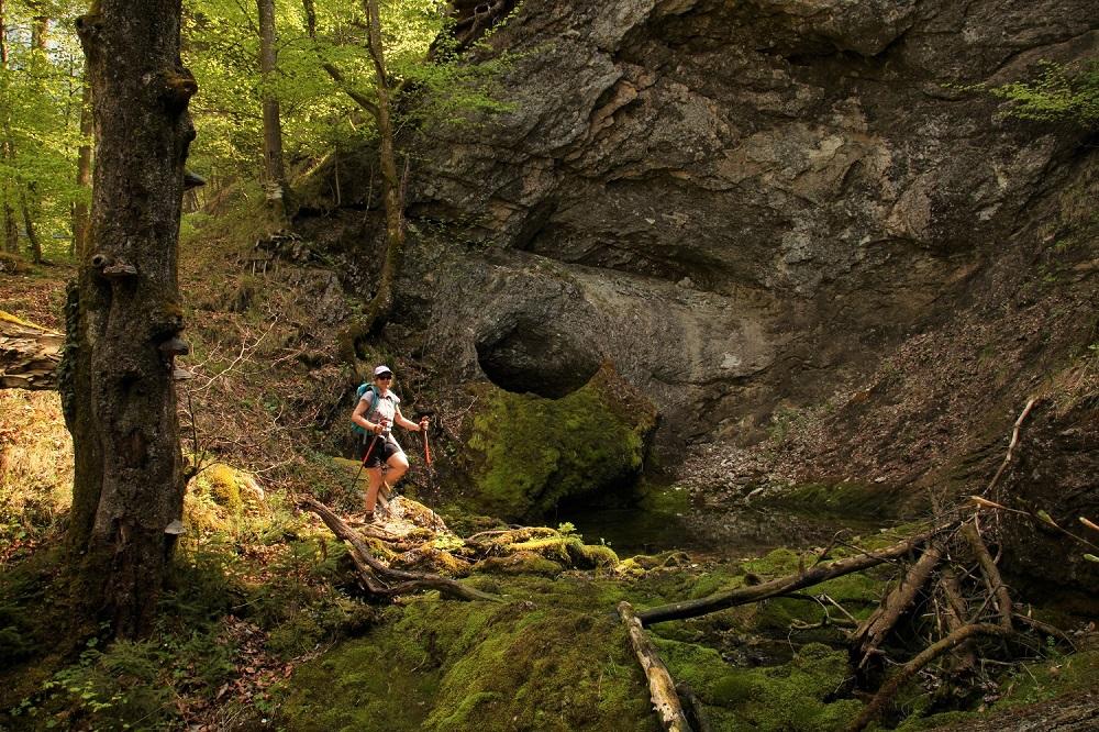 Das Mausloch, eine der vielen Höhlen im Untersberg.