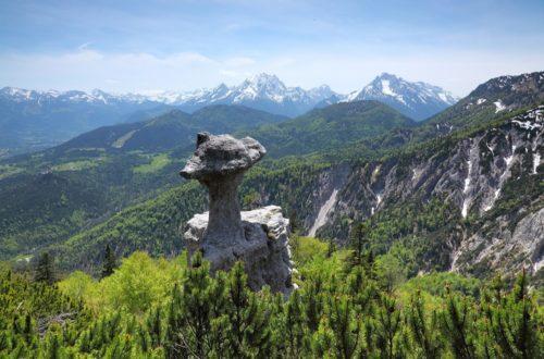 Die Steinerne Agnes am Lattengebirge, Bayerns schönstes Geotop.