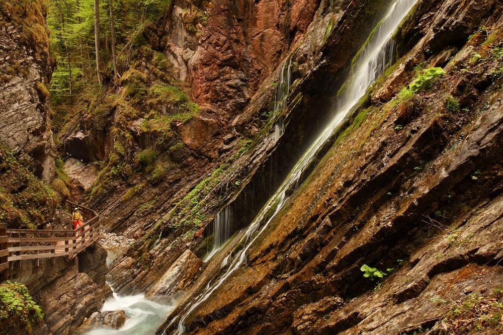 Geotop Wimbachklamm – beliebt bei vielen Gästen und auch zu Erkunden auf geführten Wanderungen.