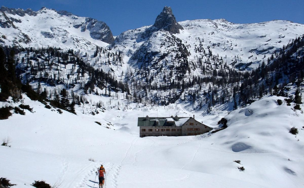 Das Kärlingerhaus im Winter