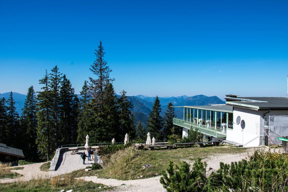 Die Bergstation mit dem Bergrestaurant