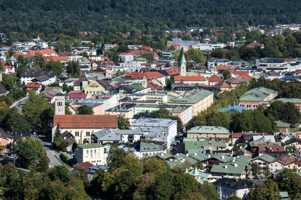 Blick aus der Gondel in die Stadt