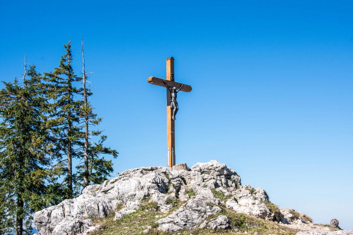 Das Gipfelkreuz auf dem Predigtstuhl