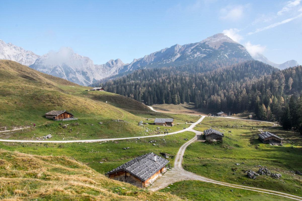 Blick vom Almkreuz zum Seehorn