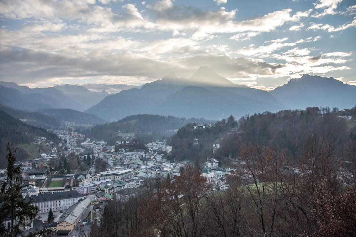 Blick vom Lockstein über Berchetsgaden