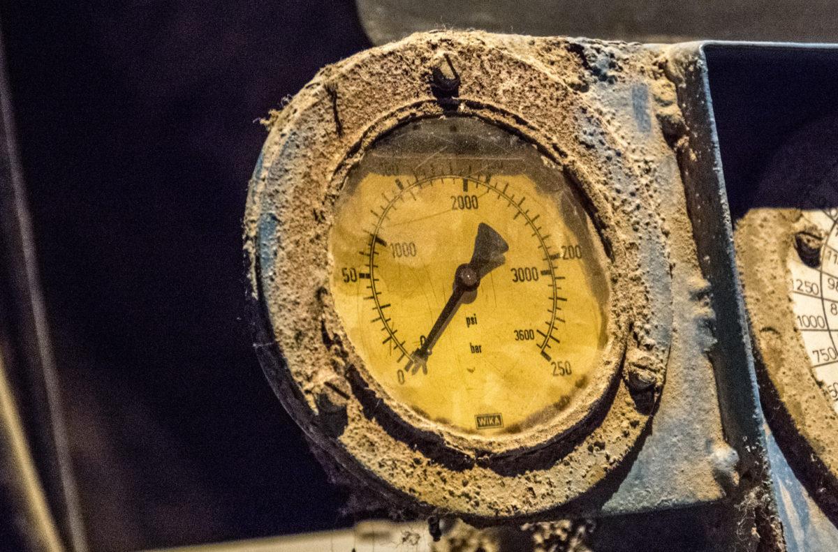 Detail am Grund des Kaiser Franz Sinkwerks