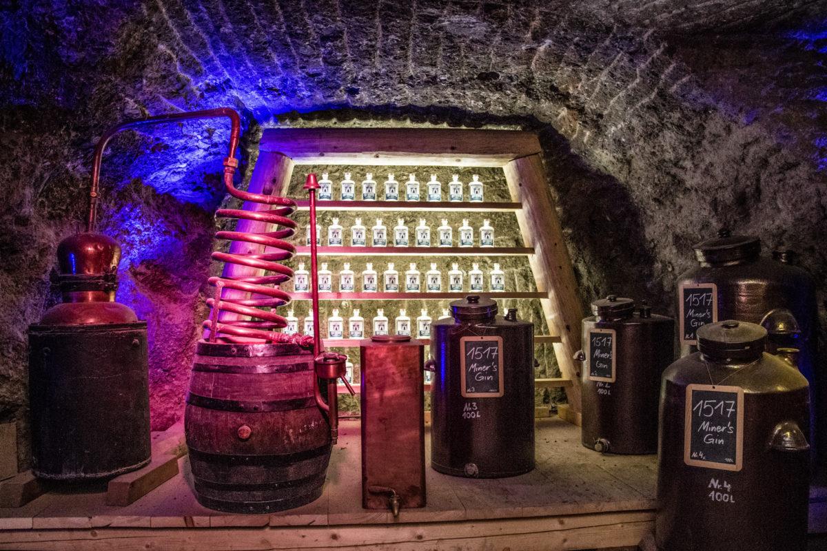 Gin Lager der Enzianbrennerei Grassl