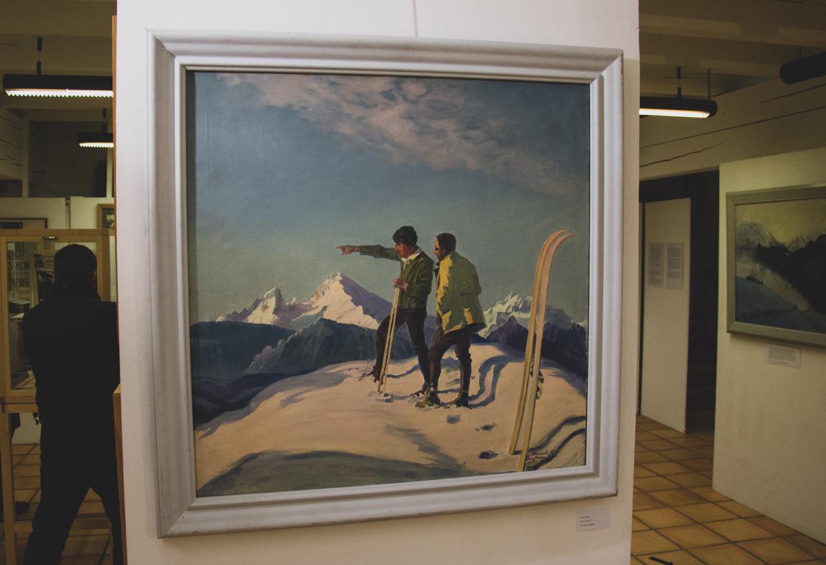 """""""Zwei Skifahrer"""" von Anton Reinbold"""