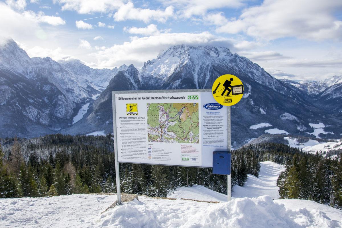 Hinweise und DAV Regeln für Skitouren auf der Piste
