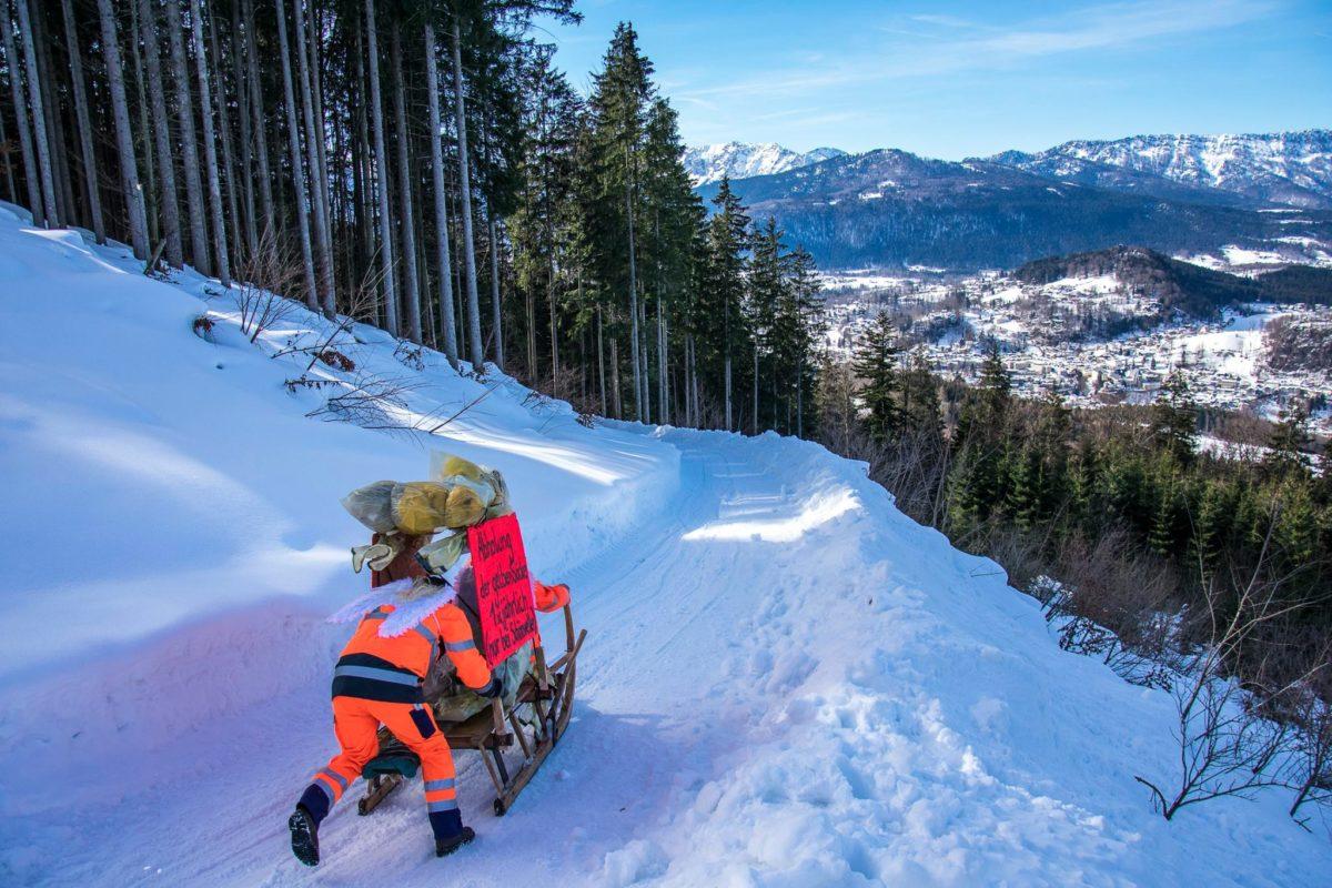 Maschkara Hornschlittenrennen am Obersalzberg