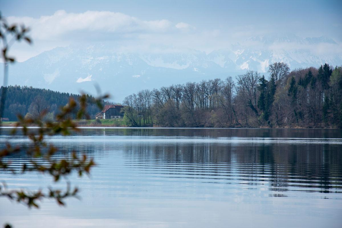 Die Berge im Süden des Abtsdorfer Sees