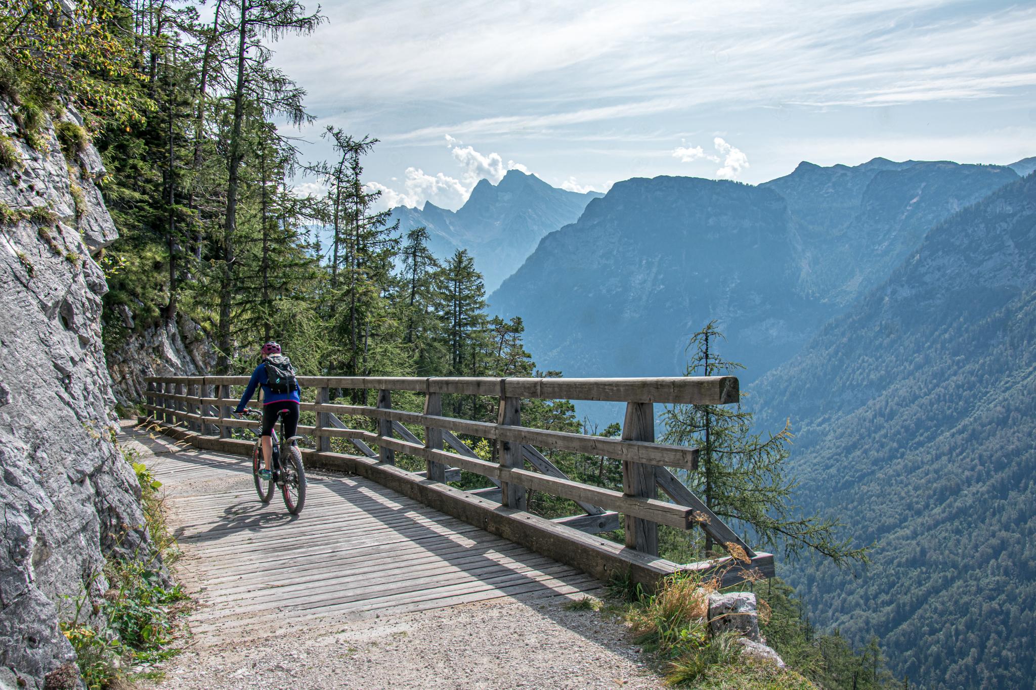Mountainbike Abfahrt von der Anthaupten-Alm