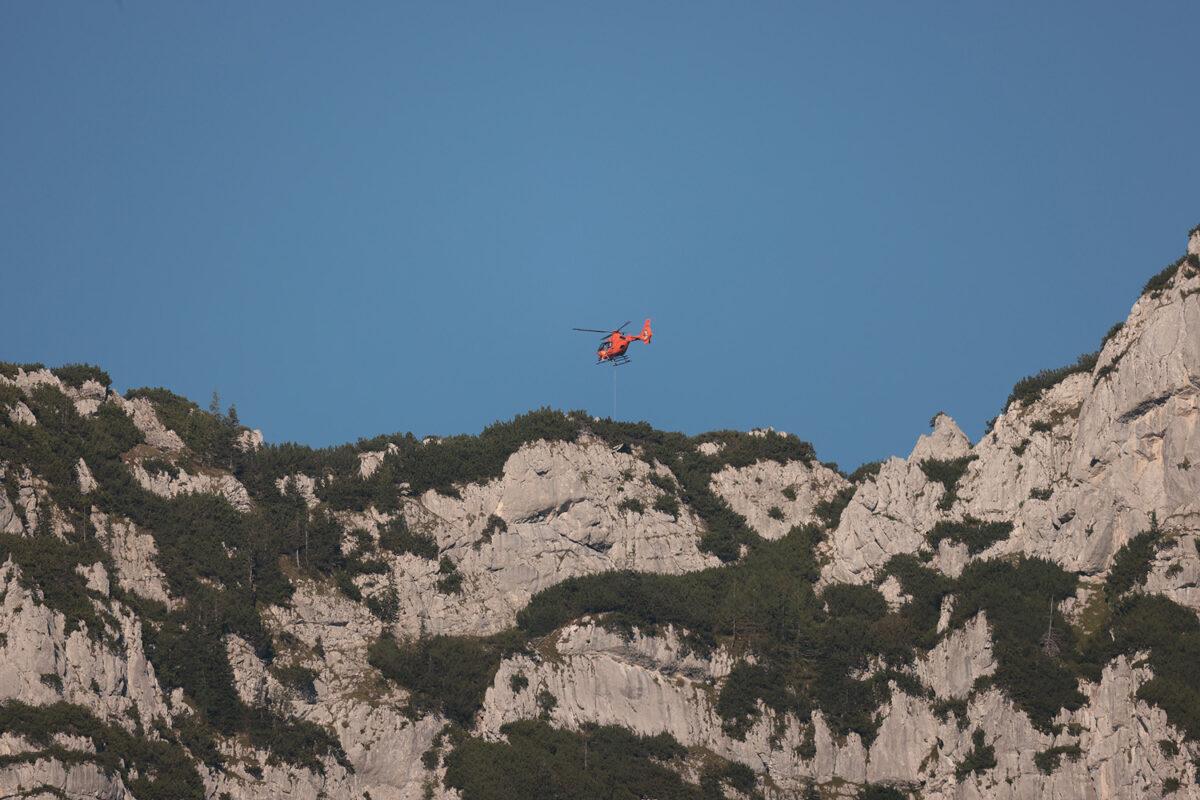 Christoph 14 über dem Mannlgrat © BRK BGL
