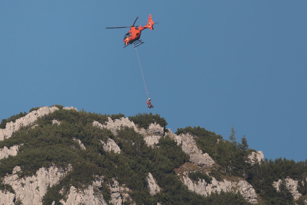 Bergretter im Einsatz am Mannlgrat © BRK BGL